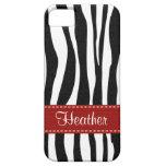 Zebra Print Skin Red Ribbon iPhone 5 Cover