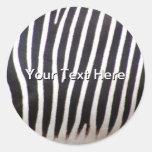 Zebra Print Sticker