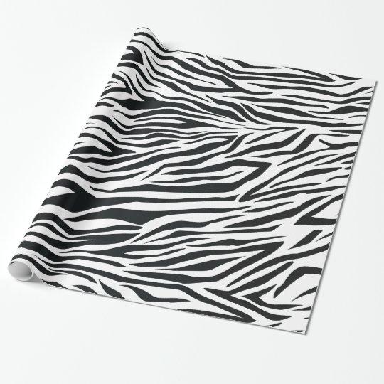 Aninimal Book: Zebra Print Stripes Black and White Animal Pattern ...