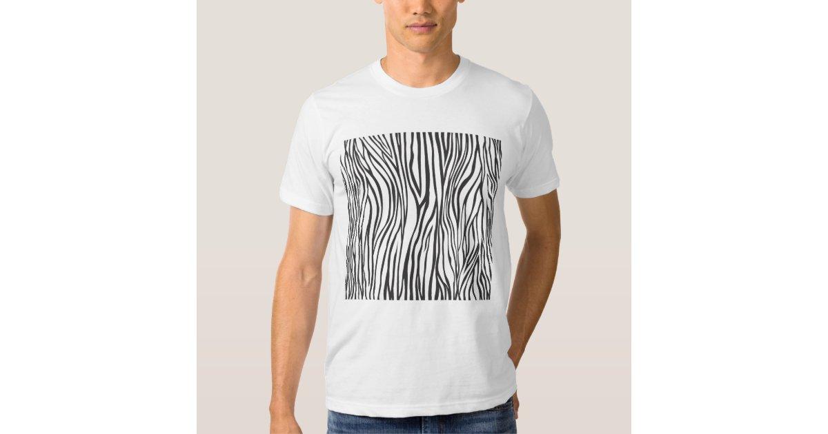 Zebra print t shirt zazzle for Vista print tee shirt