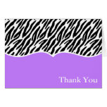 Zebra Print Thank You Cards