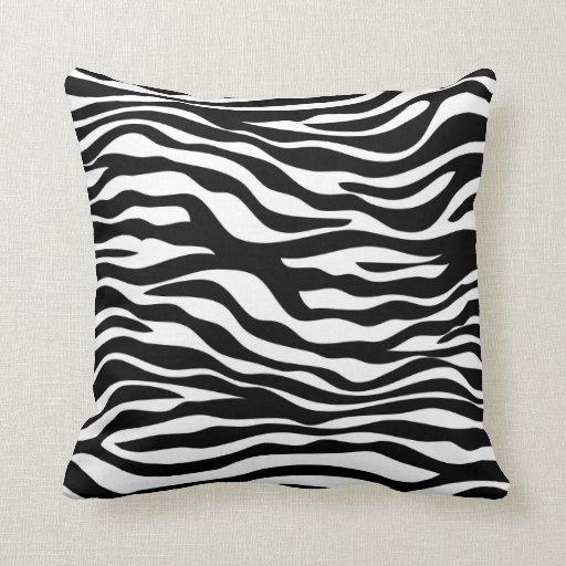 Zebra Print Throw Pillow Zazzle