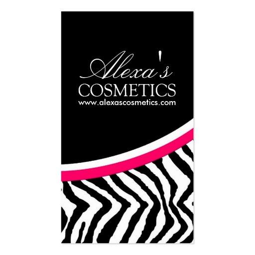 Zebra Print {Vertical} :: Business Card