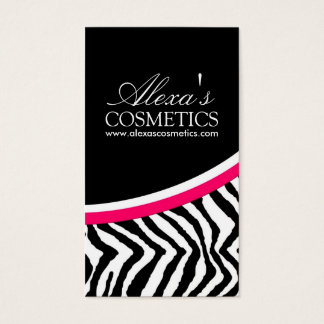 Bold nail technician business cards templates zazzle zebra print vertical business card reheart Image collections