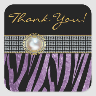 Zebra Print  Wedding Favor Thank You Stickers