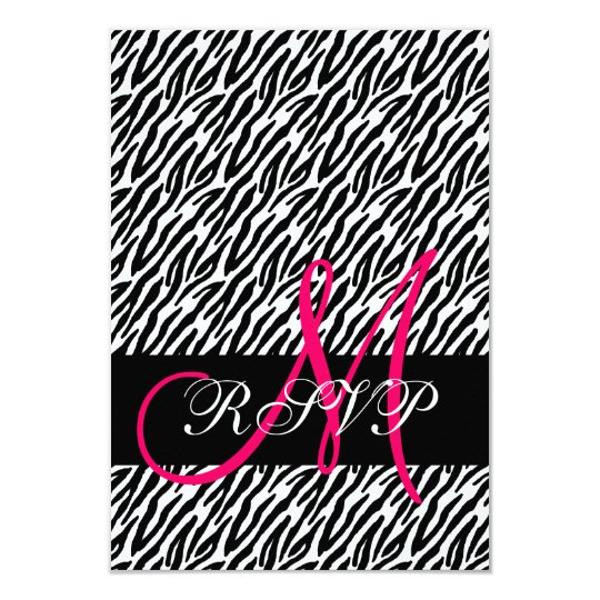 Zebra Print Wedding RSVP for Square Invites