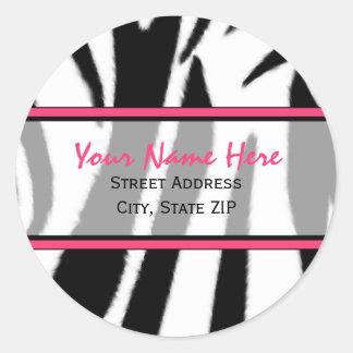 Zebra Print with Pink Address Labels