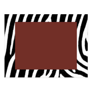 zebra print with red center postcard