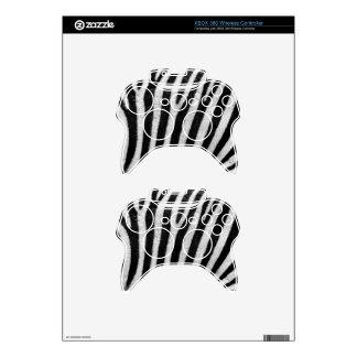 Zebra Print xbox 360 Controller Skin Template