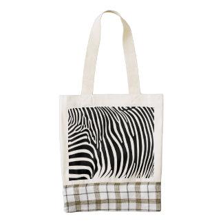 Zebra Print Zazzle HEART Tote Bag