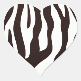 Zebra Prints Heart Sticker