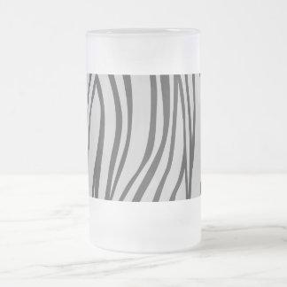 zebra prit frosted glass beer mug