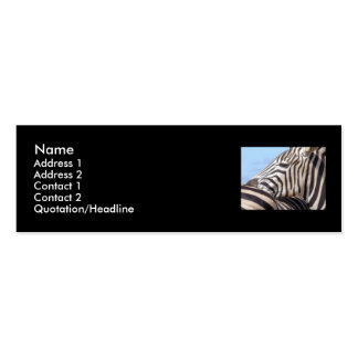 Zebra Profile Card Business Card Template