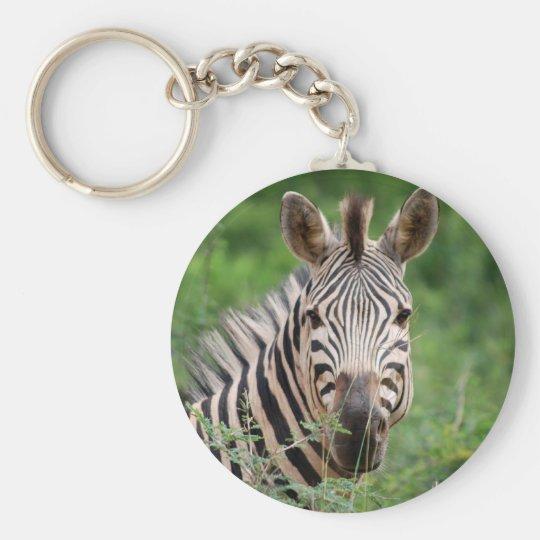 Zebra profile keychain