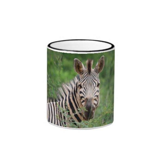Zebra profile ringer coffee mug