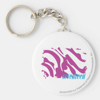 Zebra Purple 3 Keychain