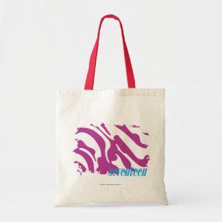 Zebra Purple 3 Tote Bag