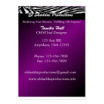 Zebra Purple Business | Ministry Card Business Cards