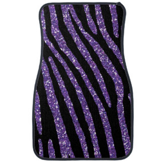 Zebra PURPLE Chic Elegant Print Car Mat