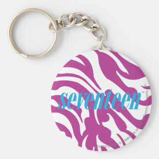Zebra Purple Keychain