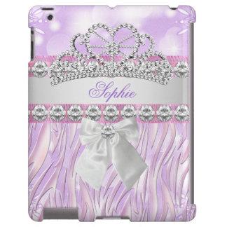 Zebra Purple Pink Princess Tiara Diamond Girly