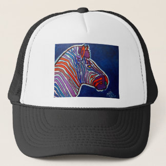 Zebra Rainbow by Piliero Trucker Hat