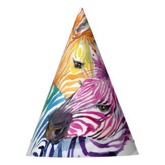 Zebra Rainbow Party Goods Party Hat