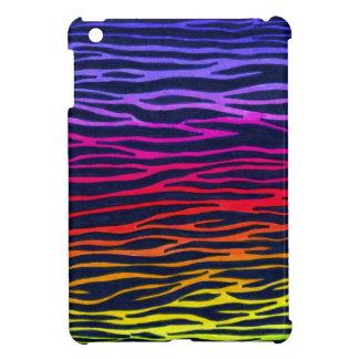 zebra rainbow print ipad mini case