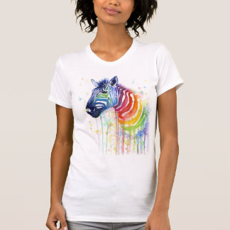 Zebra Rainbow Watercolor Shirt