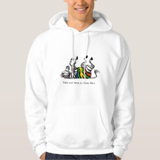 Zebra: raise your hands for south africa hoodie