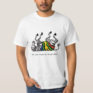 Zebra :raise your hands for south africa soccer T-Shirt