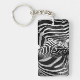 Zebra Rectangle (single-sided) Keychain