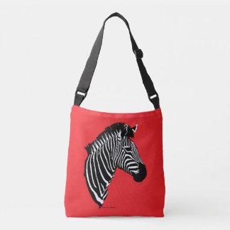 """Zebra"" Red Cross-body Bag"