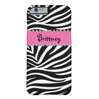 Zebra & Rhinestone BLING Case iPhone 6 case