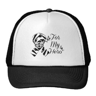 Zebra Ribbon For My Hero Trucker Hat