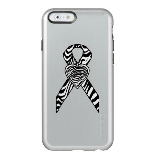 Zebra Ribbon with Heart Incipio Feather Shine iPhone 6 Case