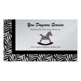 Zebra Rocking Horse Business Cards