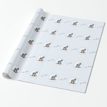 Zebra Rocking Horse It's A Boy Wrapping Paper