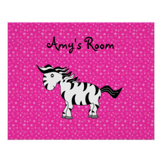 Zebra room poster