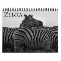 zebra safari 2021 calendar
