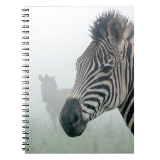 Zebra Safari Cute African Classy Stripes Spiral Note Book