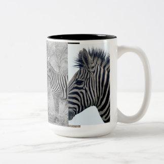Zebra Safari Cute African Classy Stripes Two-Tone Coffee Mug