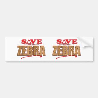 Zebra Save Bumper Sticker