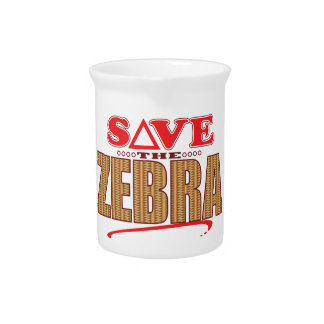 Zebra Save Drink Pitcher