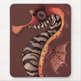 Zebra Seahorse Mouse Pad