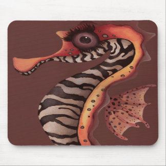 Zebra Seahorse Mouse Pads