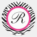 Zebra Seals - Round Stickers