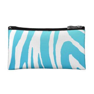 Zebra Shade Sky Blue /White Makeup Bag