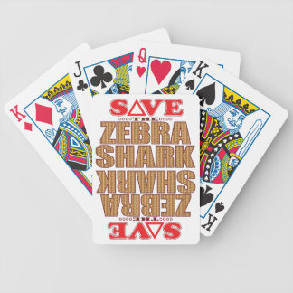 Zebra Shark Save Bicycle Playing Cards