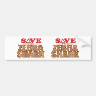 Zebra Shark Save Bumper Sticker